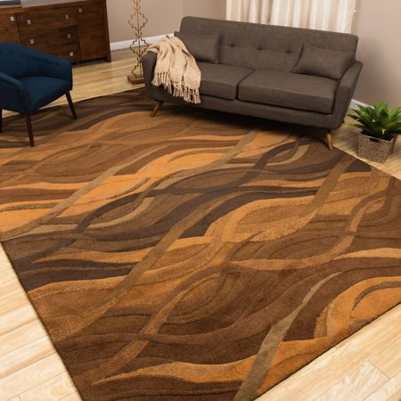 Alliyah Rugs Alliyah Handmade Autumn Brown New Zealand