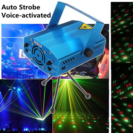 M.way MIni 6 Patterns LED Strobe Sound Voice Actived Auto Flash RGB Led Laser Stage Light, Party,Disco, DJ Lights Party Bars KTV