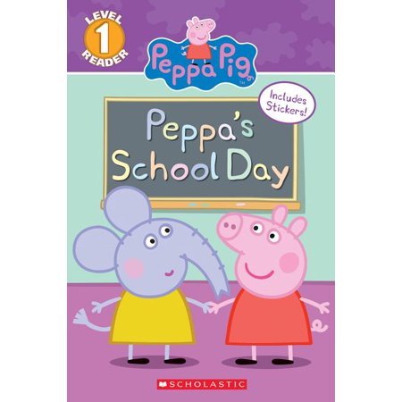 Peppa's School Day (Peppa Pig: Scholastic Reader, Level 1) (Paperback) Scholastic Little Leveled Readers