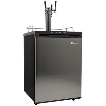 "EdgeStar KC3000TRIP  24"" Wide Triple Tap Kegerator with Digital Display for Full Size Kegs"