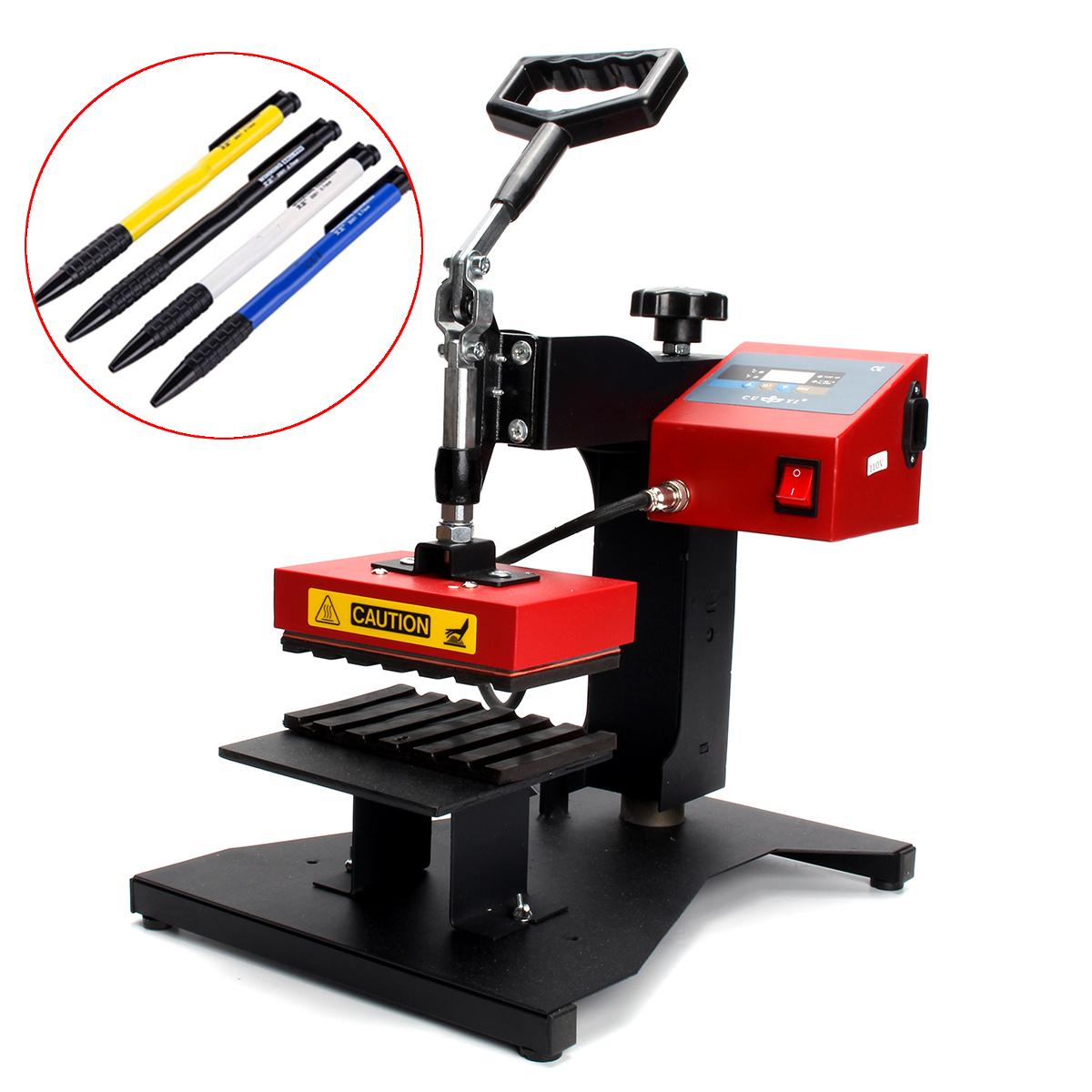 6Pcs Digital Pen Heat Press Machine For Ball-point Transfer Printing EU 220V New