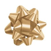 Deluxe Small Business Sales 256-0214-15 2.75 in. Splendorette Star Bows, Gold