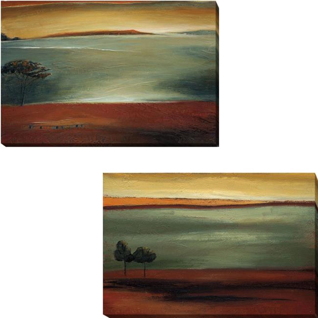 Morning Light & Morning Song by Ursula Salemink-Roos 2-Piece Premium Gallery Wrapped Canvas Giclee Art Set - 16 x 24 x 1.5 in. - image 1 of 1