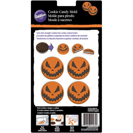 Cookie Candy Mold-6 Cavity Jack O'lantern