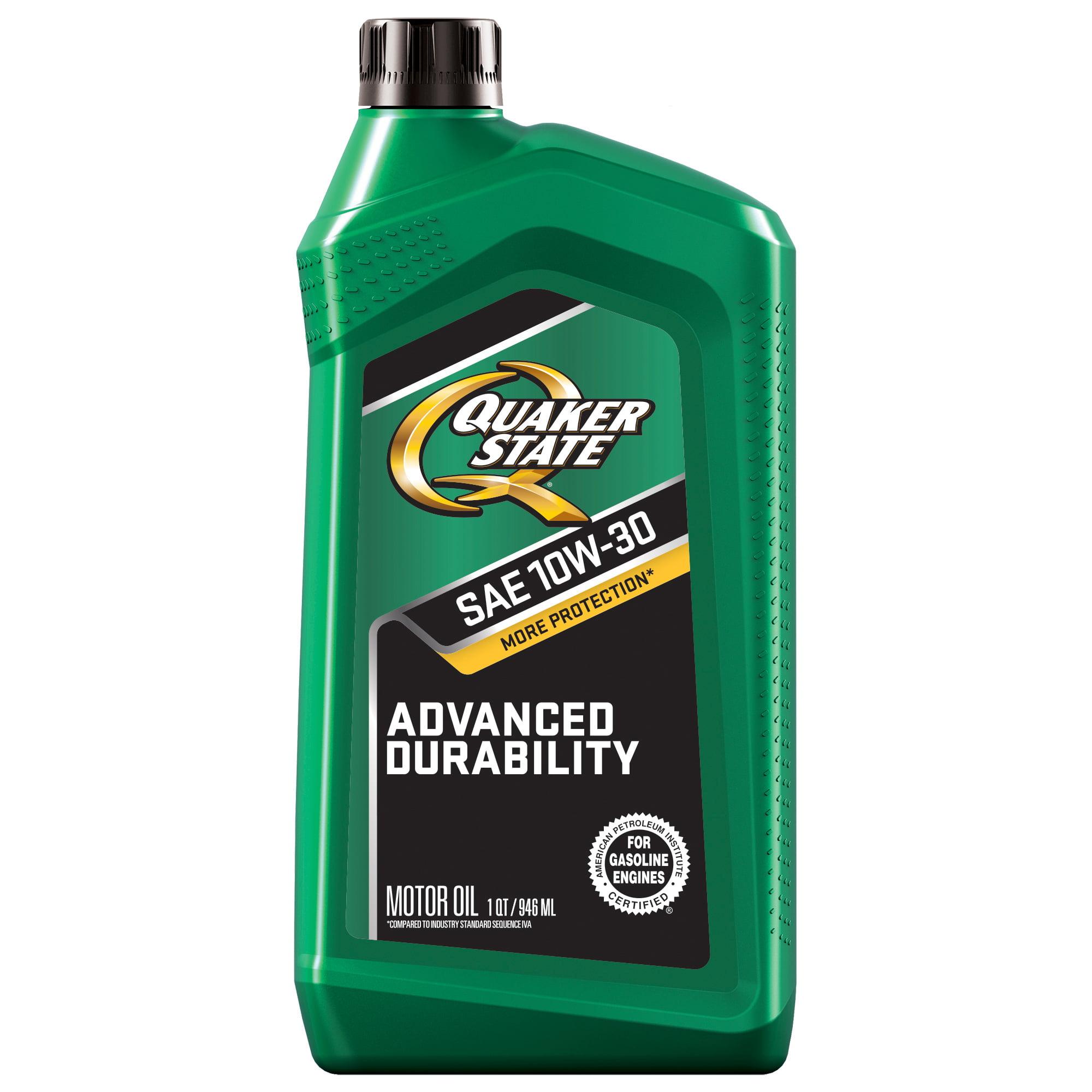 Quaker State Advanced Durability 10W-30 Motor Oil, 1 qt - Walmart