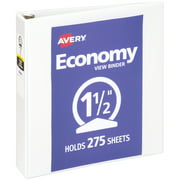 "Avery Economy View Binder, 1.5"" Round Ring, White (05726)"
