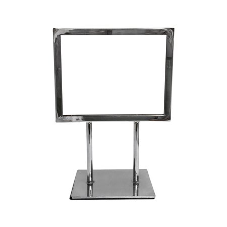 Counter Sign Display Holder (7-1/4'' x 5-3/4'' Counter Cardframe Display Clothes Rack Fixture Sign Holder Chrome Plated)