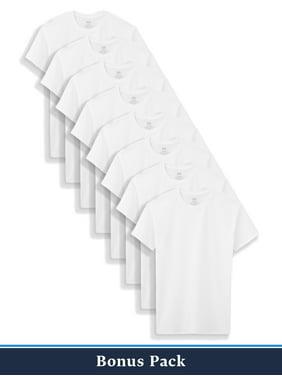 Fruit of the Loom Boys Undershirts, 5+3 Bonus Pack White Crew Undershirts (Little Boys & Big Boys)