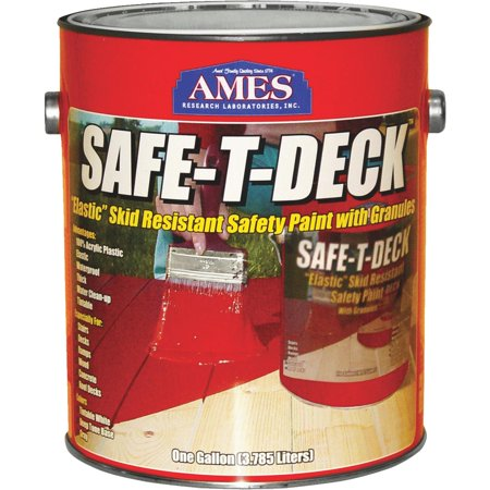 Ames Safe-T-Deck Granulated Deck Coating 1 gallon Tan - Walmart com