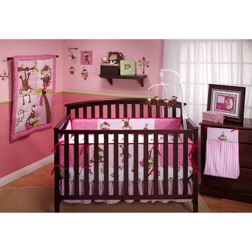 Little Bedding by NoJo - 3 Little Monkeys 10pc Nursery in a Bag - Value Bundle