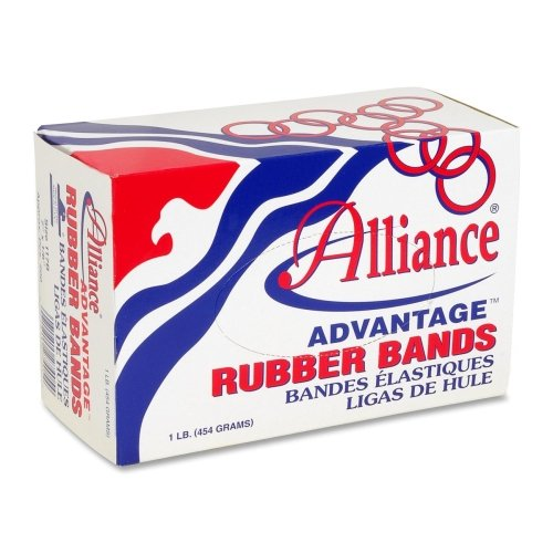 "Alliance Rubber Advantage Rubber Bands - Size: #10 - 1.25"" Length X 60 Mil Width - Biodegradable - 1 Box - Natural (ALL26105)"