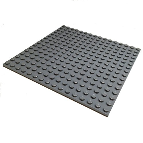 Brick Building Sets Original LEGO® Parts: Plate 16 x 16 Studs  Part #91405 (Pack of 1pc) (Dark Bluish Gray)