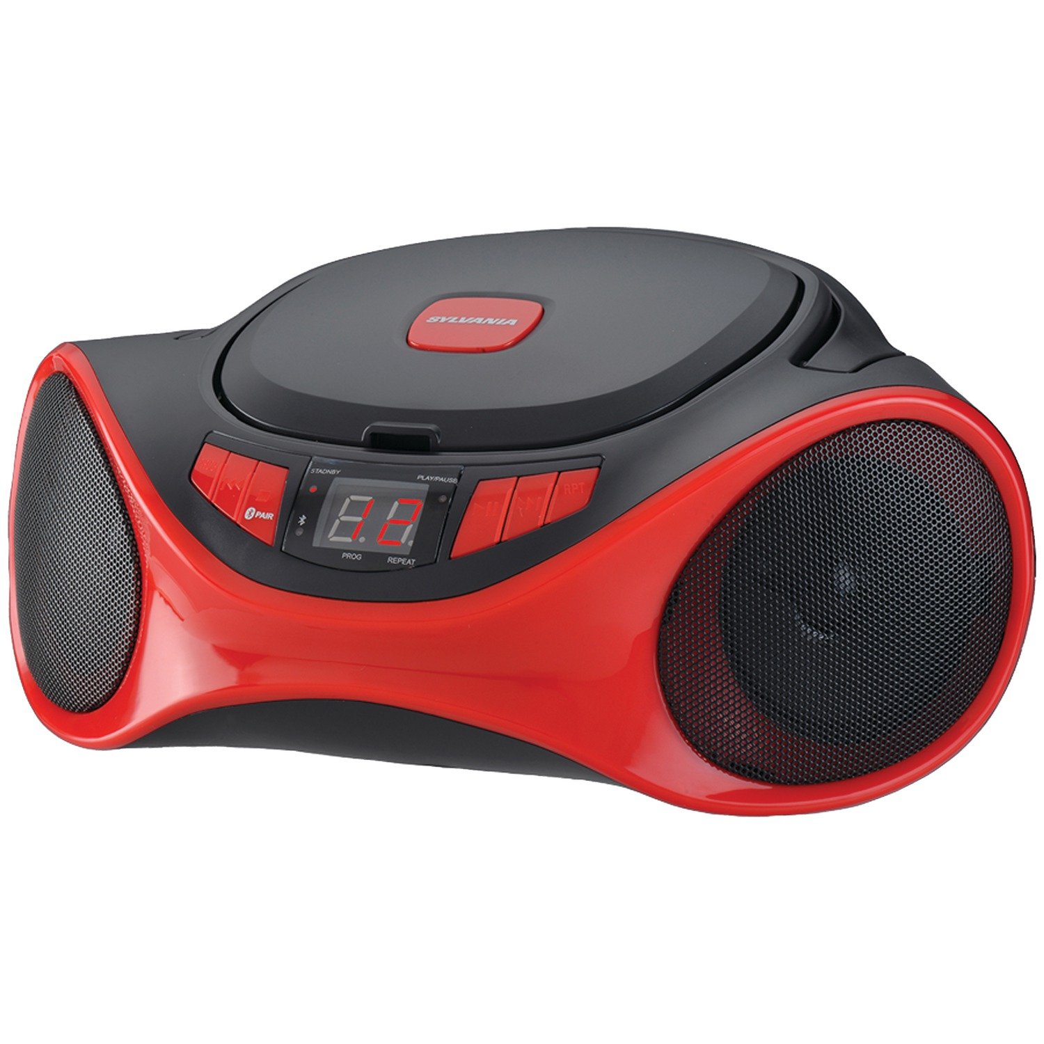 SYLVANIA SRCD1063BT-GRAPHITE Bluetooth Portable CD Radio Boom Box (Graphite)