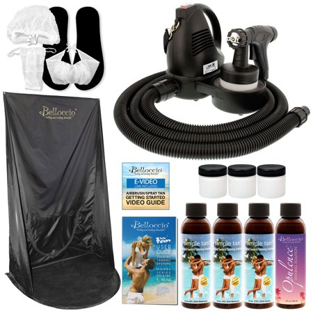 Sunless Airbrush HVLP SPRAY TANNING SYSTEM Simple Tan Solution Kit