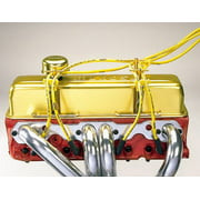 Moroso Spark Plug Wire Loom 7-9mm Blue/Chrome Universal P/N 72150