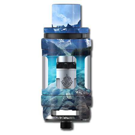 Skins Decals For Smok Tfv12 Cloud King Tank Vape Mod / Mountain Lake, Clear Water