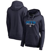 Winnipeg Jets Fanatics Branded Women's Iconic Collection Script Assist Pullover Hoodie - Navy