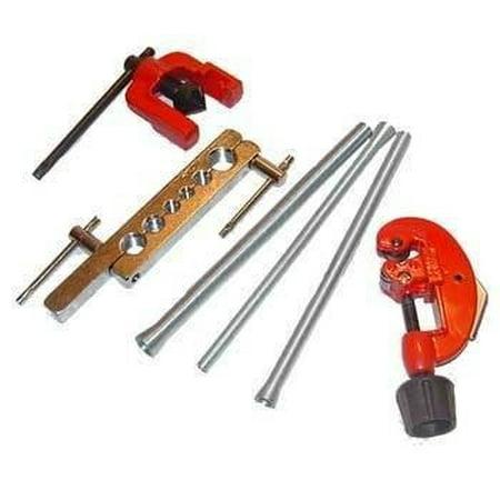 6 Piece Flaring Tool Kit Set Tubing Flare Tube Small Pipe Spring Bender Bending ()