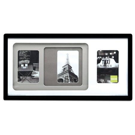 kiera grace trio 10x20 triple matted picture frame three 4x6 openings