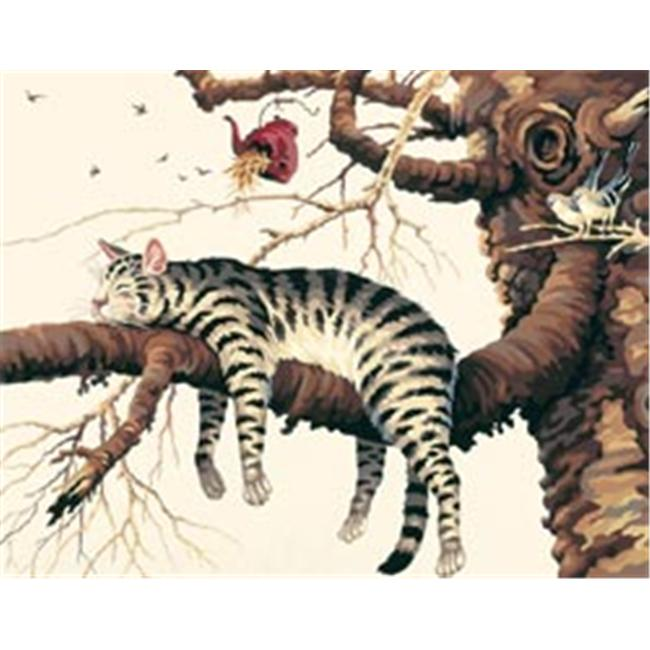 Dimensions 287083 Paint By Number Kit 14 inch x 11 inch -Too Pooped-Charles Wysocki