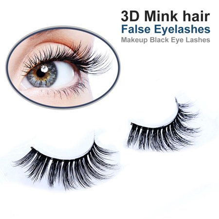 Deago Luxurious Soft Design 3D 100% Real Mink Natural False Eyelashes Cross Messy Long Eye Lashes [1 Pairs]
