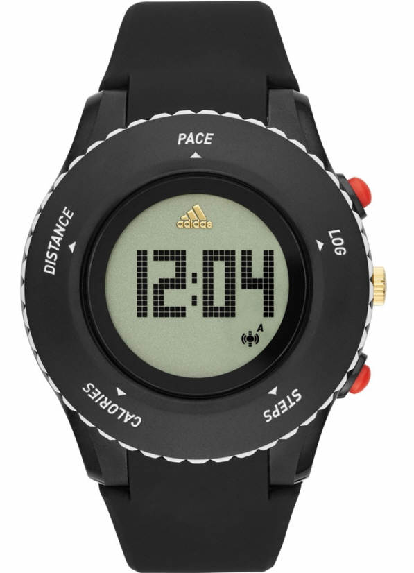 Unisex Adidas Performance Sprung Black Silicone Digital Runner Watch ADP3220 by Adidas
