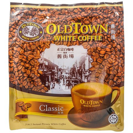 Old Town 3 In 1 Instant White Coffee Mix Packets, 15