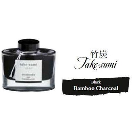 Pilot Iroshizuku 50 ml Bottle Fountain Pen Ink, Take-Sumi (Bamboo Charcoal) (Fountain Pen Charcoal)