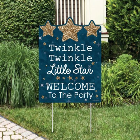 Twinkle Little Star - Party Decorations - Birthday Party or Baby Shower Welcome Yard Sign - Twinkle Little Star Baby Shower