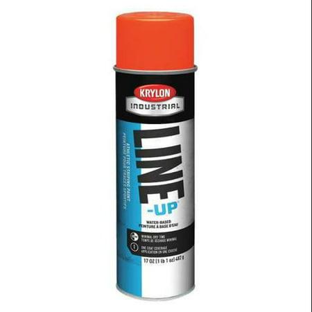 KRYLON Striping Paint,Fluorescent Orange,17 oz., K08314004