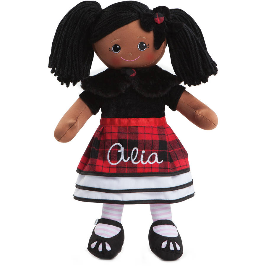 Personalized Rag Doll With Winter Dress