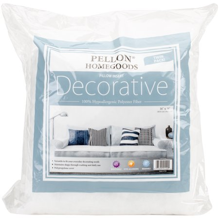 Pellon Homegoods Decorative 40 X 40 Throw Pillow Inserts Pack Of Classy 16x16 Pillow Insert Walmart
