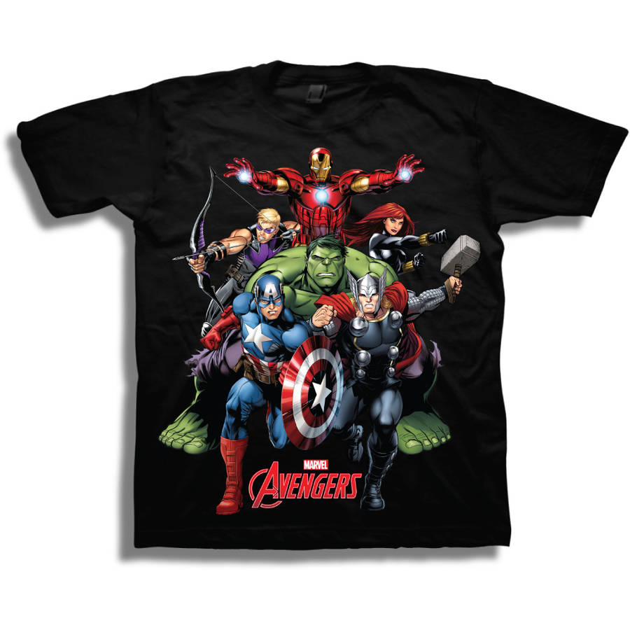 Marvel Avengers Boys' Short Sleeve T-Shirt