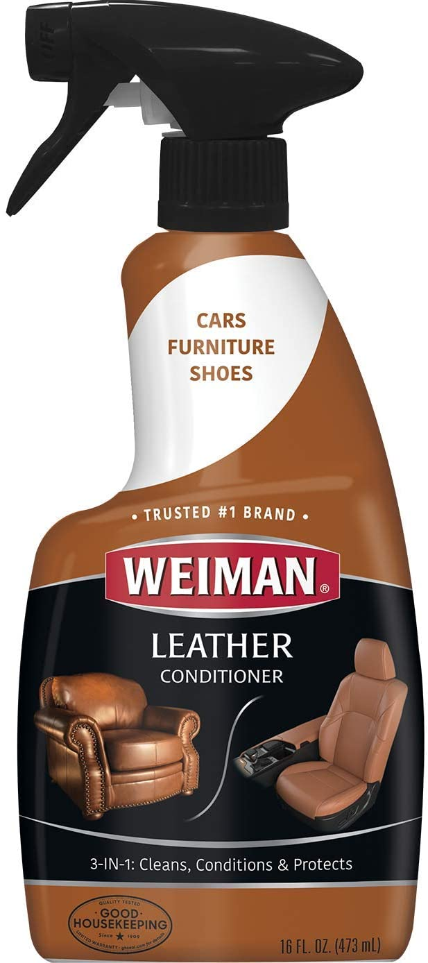 Weiman Leather Cleaner And Conditioner 16 Ounce For Car Auto Furniture Purse And Shoes Walmart Com Walmart Com