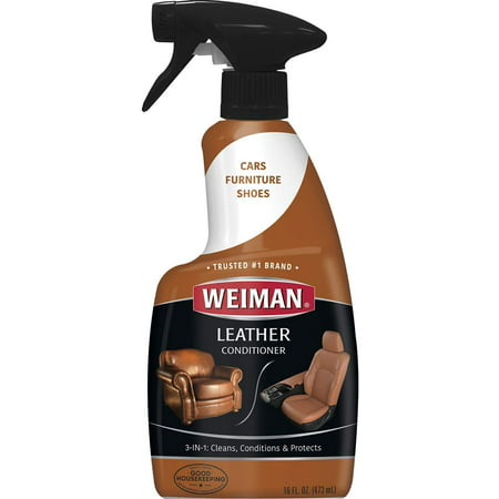 Weiman Leather Cleaner and Conditioner - 16 Ounce - For Car Auto Furniture Purse and Shoes