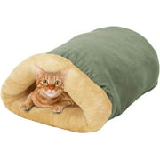 GOOPAWS 4 in 1 Self Warming Burrow Cat Bed