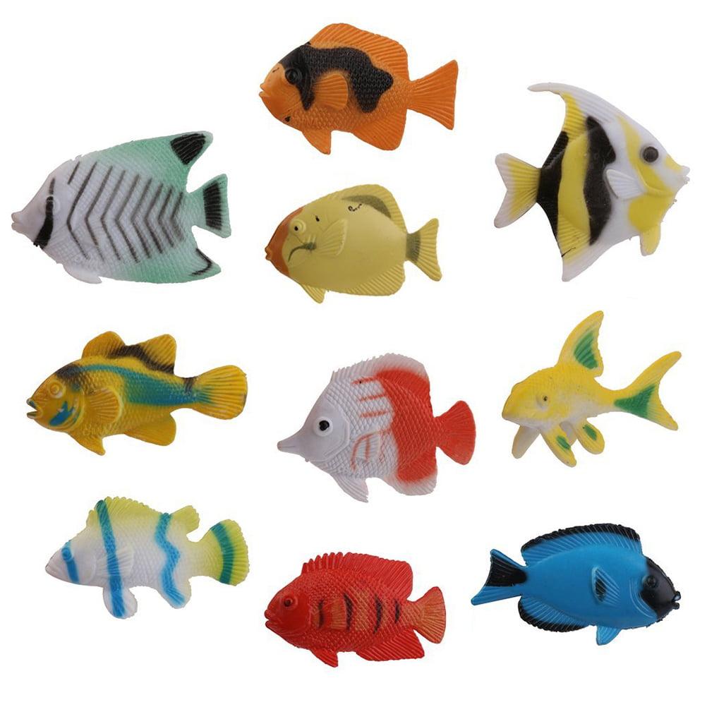 10pcs Ocean Animal Tropical Fish Figure Model Preschool Kids Toy by