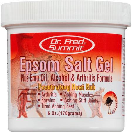 Dr. Fred Summit Epsom Salt Gel Penetrating Heat Rub, 6 (Specialty Rub)