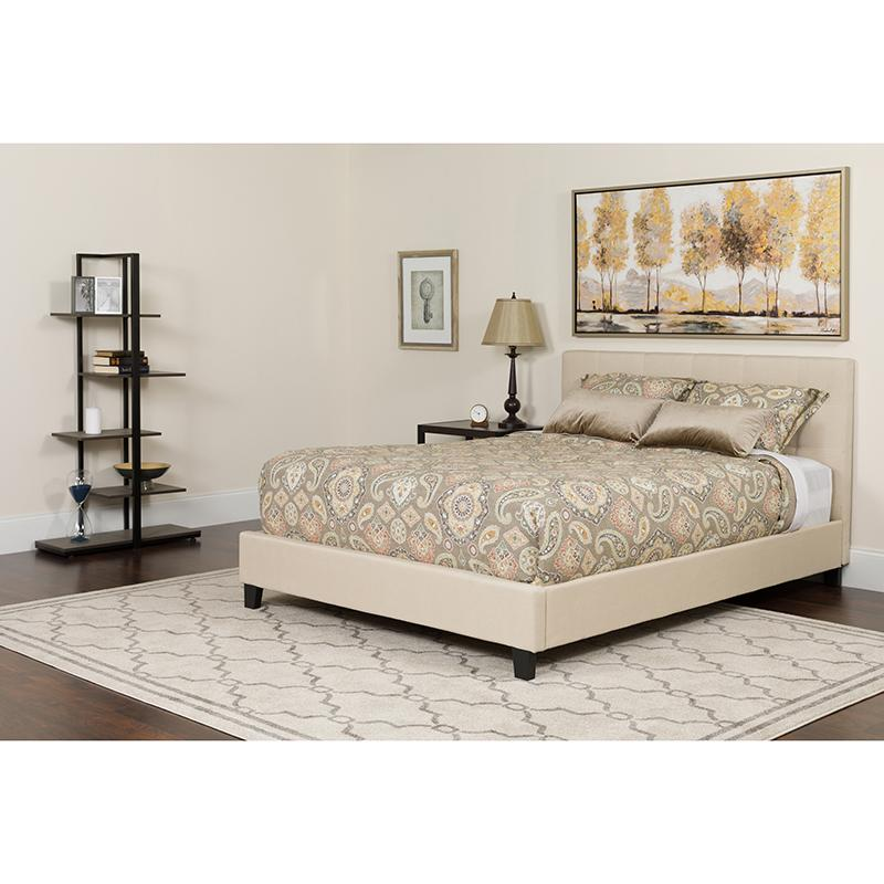 Twin Platform Bed-Light Gray - image 4 de 6