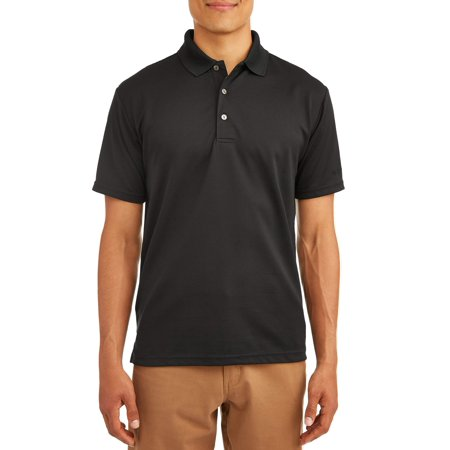 Ben Hogan Men's Performance Easy Care Solid Short Sleeve Polo Shirt Blue Drytec Performance Polo