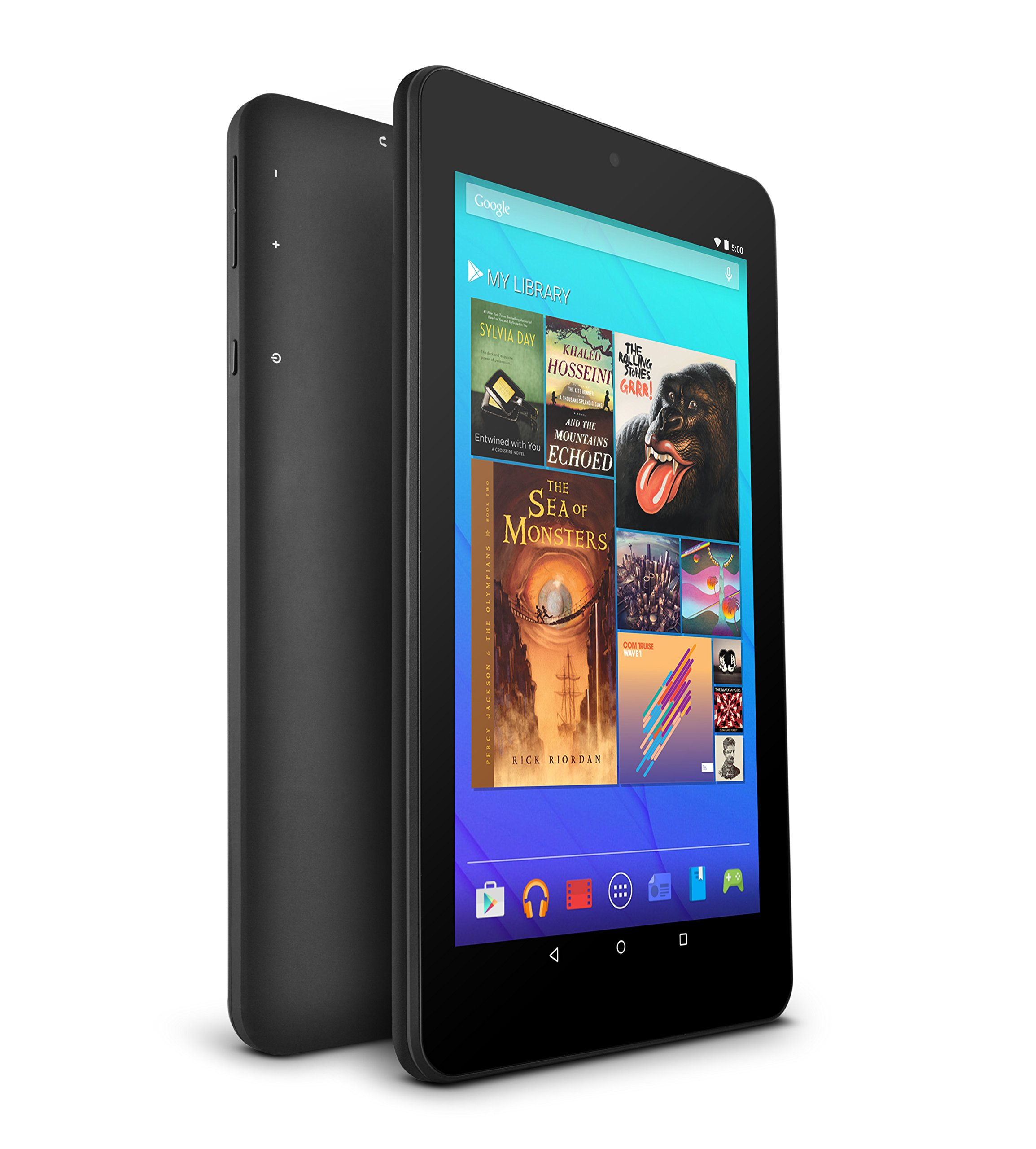 "Ematic 7"" Hd Quad-core Multi-touch Tablet With Android 5.0, Lollipop - Black (egq347bl)"
