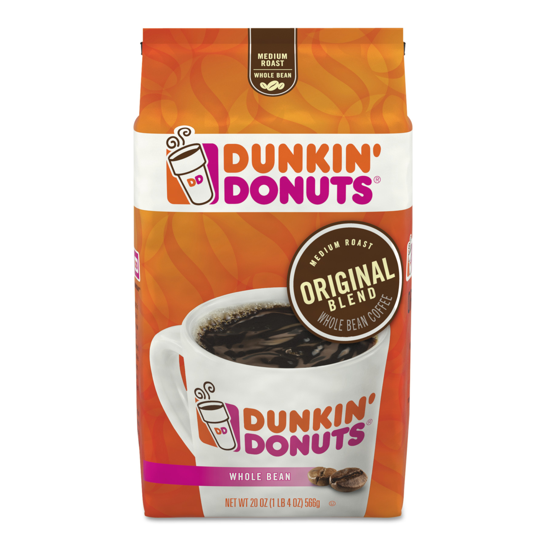 Dunkin Donuts Original Blend Coffee, Dunkin WB original, 20 oz