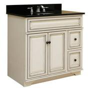 "Sunny Wood SL3621D Sanibel 36"" Maple Wood Vanity Cabinet Only"