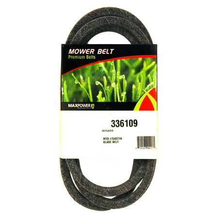 MaxPower 336109 Blade to Blade Belt for MTD, Cub Cadet, Troy Bilt Replaces OEM #754-0371A,