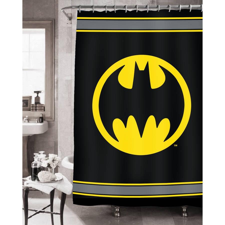 Batman Kids Fabric Shower Curtain, 72in x 72in, 1 Each