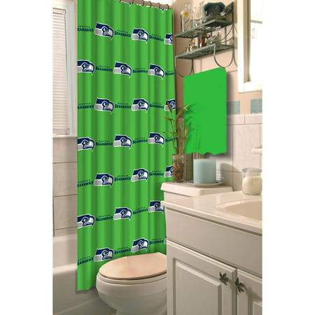 NFL Seattle Seahawks Shower Curtain 1 Each