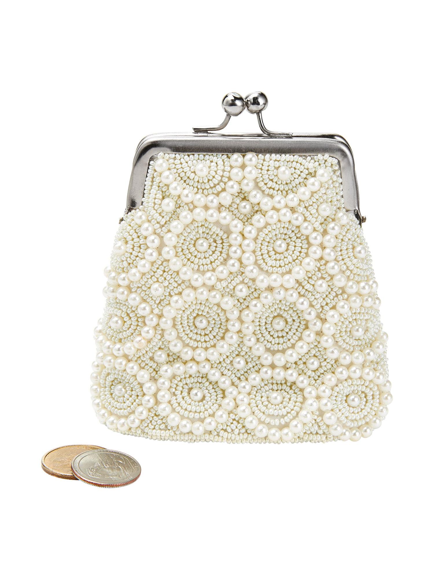 UTO Women Small Crossbody Bag Adorn Roomy Zipper Pocket Cell Phone Wallet Card Holder Shoulder Purse