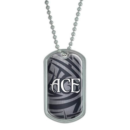 Male Names - Ace - Dog Tag