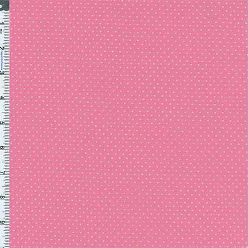 Bubble Gum Dobby Dot Knit, Fabric By the Yard