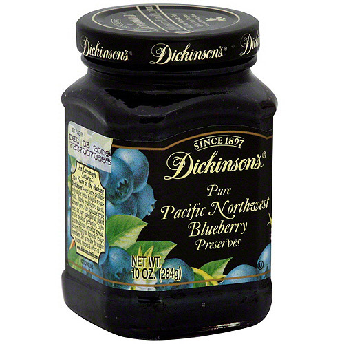 Dickinson's Pacific Northwest Blueberry Preserves, 10 oz (Pack of 6)